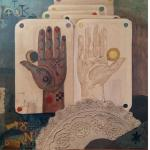 REM Triptych Hand - Palm Reading Series  1960s